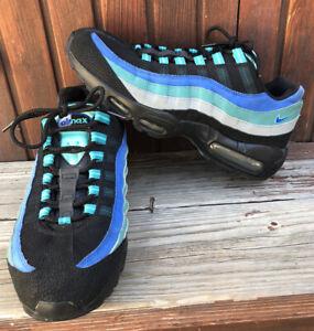 Air Max 95 Running NikeShoes 609048 084 Black Blue Grey Cobalt Men's Size 10.5