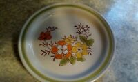 """COUNTRY CASUAL Spring Garden HAND PAINTED STONEWARE SALAD PLATES SET OF 2 71/2"""""""