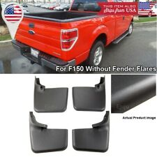 Front Rear Set OE Splash Mud Guards Flaps For 04-14 Ford F-150 W/O Fender Flares