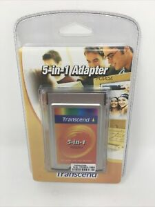 TRANSCEND 5-IN-1 ADAPTER NEW Converts to PCMCIA card format