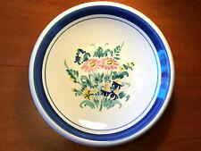 Scandinavian Danish Studio Pottery FRUIT BOWL LARS SYBERG 1950 10.5IN Blue White