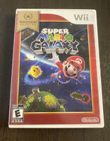 Wii Super Mario Galaxy Nintendo Selects Case & Game No Manual, Free Shipping