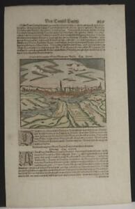 'S-HERTOGENBOSCH NETHERLANDS 1628 MÜNSTER UNUSUAL ANTIQUE VIEW GERMAN AN EDITION