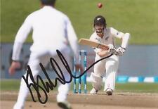 New Zealand: Kane Williamson Signed 6x4 Test Action Photo+Coa