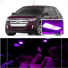 For Ford Edge 2007-2014 Pink LED Interior Kit + Pink License Light LED