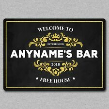 Personalised Metal Bar Pub Beer Wall Sign Plaque Man Cave Gift