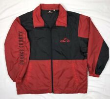 Orange County Choppers Occ Mens XL Color Block Embroidered Windbreaker Jacket