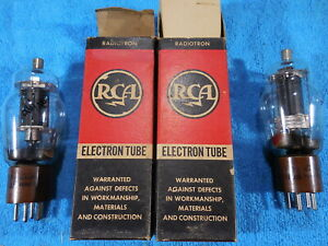 RCA 807 NOS  matched pair of tubes