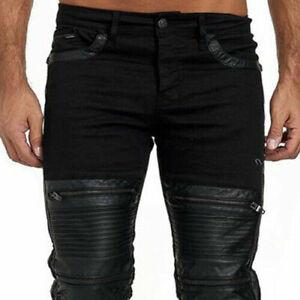 Kingz VENOM Biker Mens Jeans Denim All Sizes