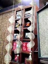 Hanging Wind Chimes Bamboo Woven Bamboo Mobile Home Decor 27''