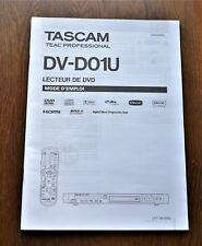 Tascam Teac DV-D01U DVD player ORIGINAL user manual in French Language!