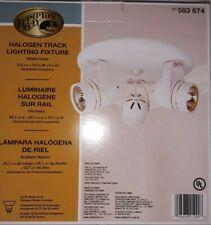 "NIB Hampton Bay Halogen Track Lighting Fixture White, 3-Lights, 9.5""×9.5""×5"""