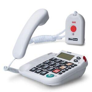 Seniorentelefon mit Halsbandsender Notruftelefon Großtastentelefon Hausnotruf