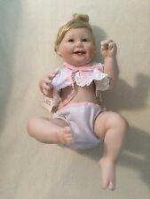"Ashton Drake ""Cute As A Button"" Baby All Porcelain -1993 (Retired) Ta 18435"