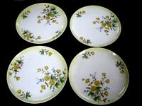 Lot 4 Taylor Smith & Taylor Versatile POPPY DINNER PLATES Yellow Floral Flowers