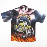 ORANGE COUNTY CHOPPERS OCC Motorcycle Flame Shirt Size Men's Large