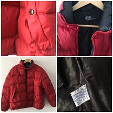 Men's Polo Sport Ralph Lauren Down Jacket Size Large Coat Padded Vgc SPORT Red
