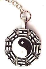 Yin Yang Symbol  2 Sided  Pewter Keyring Mens Boys Girls 35mm = KR0206