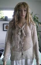 REVIEW Bluse Shirt Top in Beige/Schwarz und Größe S