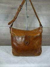 Frye Melissa Button Brown Leather Crossbody Shoulder Bag Satchel