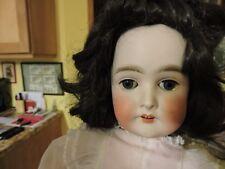 "24"" Antique Bisque Head Composition German Armand Marseille Queen Louise Doll"