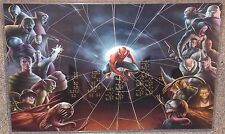 Spiderman With Villains Glossy Art Print 11 x 17 In Hard Plastic Sleeve