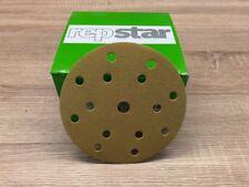RepStar 631008 Exzenterschleifpapier Schleifscheiben P400 150mm 15-Loch Klett