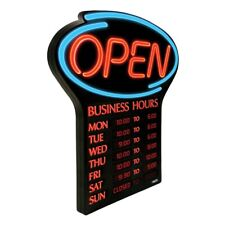 New listing Newon Open Led Sign with Business Hours 00006000