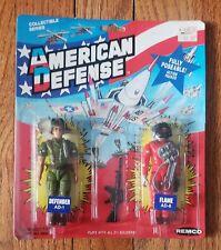 VINTAGE 1986 Remco American Defense Defender & Flame NEW MOC US Forces GI JOE