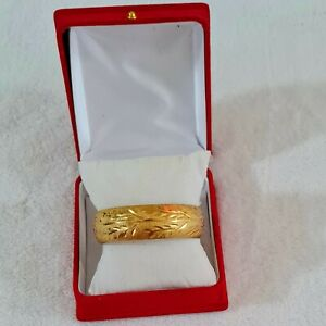 Beautiful yellow gold filled bracelet for women style size 18cm