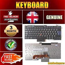 For IBM LENOVO THINKPAD T60P T61P W700 Black Keyboard UK Layout