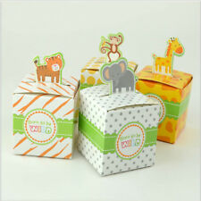 50XGiraffe Tiger Elephant Monkey Animals Baby Shower Birthday Wedding Favors Box