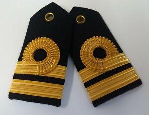 Genuino Naval Femals Edición Teniente Oro Alambre Rango Hombro Paneles LFS16