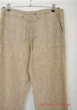 P378/40 Tommy Hilfiger 100% Cotton Beige Stright Trousers, W36 L31