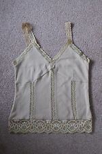 NEVADA BROWN LACE CAMISOLE TOP SIZE 10 BRAND NEW