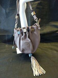 Radley Women's Cross Body Leather Shoulder Bag Dusky Pink Beads Drawstring Pouch