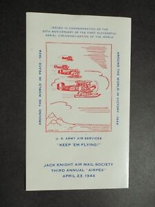 "(1) mnh 1944 Third Annual ""Airpex"" Jack Knight Air Mail Soc. Cinderella Poster"