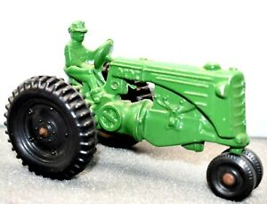 """Vintage Toy Tractor Diecast Metal Green """"MM"""" John Deere ? Farm Toys Old Rare"""