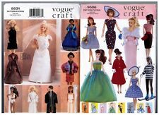 "Vogue 9531 9686 Barbie Ken 11 1/2"" Doll 1950s 60s Dress Pattern s Retired Uncut"