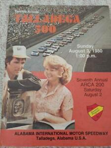 1980 NASCAR TALLADEGA 500 RACE PROGRAM NEIL BONNETT RACE WINNER