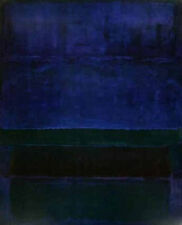 Untitled 1952 Blue Green Brown by Mark Rothko Abstract Cool Colors Print Poster