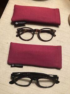 2 Pair Of Peepers Reading Cheater Glasses Tortoiseshell & Black +1.00