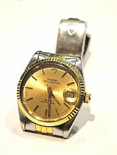 TUDOR (ROLEX) PRINCE OYSTERDATE WATCH SELF WINDING GOLD