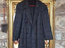 BETTY BARCLAY BLACK/GREY PURE NEW WOOL GEESE BUTTONS DOG TOOTH JACKET/COAT 36