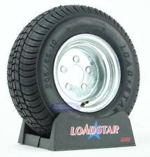 (2) Kenda Loadstar Trailer Tires 20.5x8-10 Galvanized 5 Lug Wheel 205/65-10 LRE