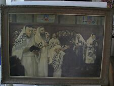 ISRAELI ART - Israel - A.MOLNER - In The SYNAGOGUE - Oil On Canvas - RARE