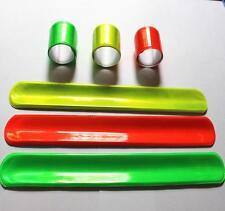 100 popular MIXED COLORS refleactive night light Magic Ruler Slap Band Bracelet