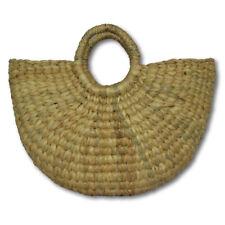 Handwoven Straw Tote Purse Bag Boho Summer Beach Picnic Basket Natural sz L H103