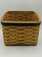 Longaberger TV Time Basket, Protector, Divider 2002