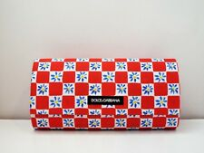 DOLCE & GABBANA Original Sunglasses Red Checkered Floral Magnetic Case